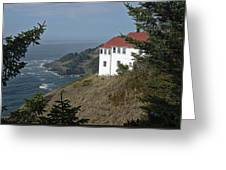 Cape Foulweather Lookout Greeting Card