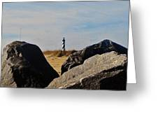 Cape Hatteras Lighthouse Rocks 2 11/22 Greeting Card