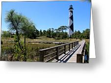 Cape Lookout Walk Way Greeting Card