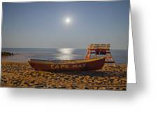 Cape May By Moonlight Greeting Card