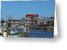 Cape May Harbor Greeting Card