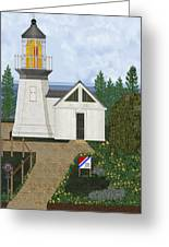 Cape Meares Lighthouse April 2013 Greeting Card by Anne Norskog