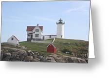 Cape Neddick Lighthouse - Me Greeting Card