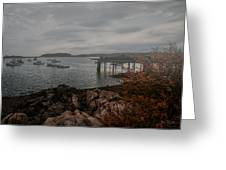 Cape Porpoise Fog Rolls In Greeting Card