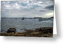 Cape Porpoise Maine - In The Evening Greeting Card