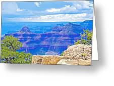 Cape Royal Blue On North Rim Of Grand Canyon-arizona Greeting Card