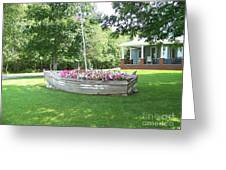Cape Vincent Flowerboat Greeting Card
