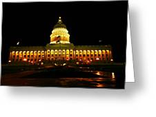 Capital Building In Utah Salt Lake City Greeting Card