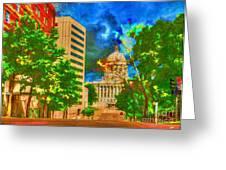 Capital - Jefferson City Missouri - Painting Greeting Card