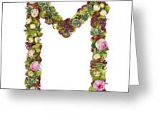 Capital Letter M Greeting Card