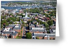 Capital Of Maryland In Annapolis Greeting Card
