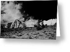 Capital Reef National Park In Black And White  Greeting Card