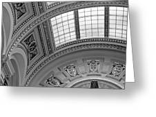 Capitol Architecture - Bw Greeting Card