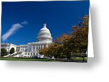 Capitol Building Autumn Foliage  Greeting Card