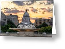 Capitol Building In Madison Wisconsin Greeting Card