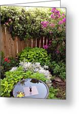Capitol Hill Patio Garden Greeting Card