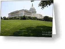 Capitol Hill View Washington Dc Greeting Card