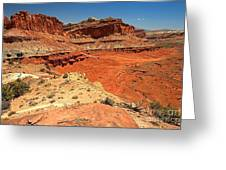 Capitol Reef Colorful Landscape Greeting Card