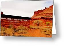 Capitol Reef N P Greeting Card