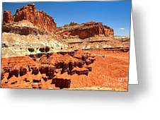 Capitol Reef Twin Towers Greeting Card