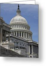 Capitol Washington Dc Steps And Stairs Greeting Card