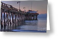 Capitola Wharf At Dusk Greeting Card