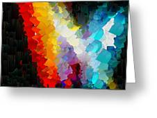 Capixart Abstract 111 Greeting Card by Chris Axford