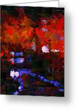 Capixart Abstract 89 Greeting Card by Chris Axford