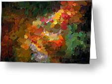 Capixart Abstract 90 Greeting Card by Chris Axford