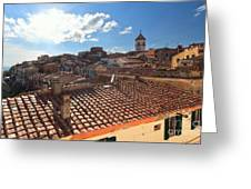 Capoliveri Against The Sun - Elba Island Greeting Card