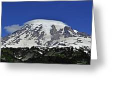 Capped Rainier Up Close Greeting Card
