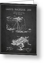 Capps Machine Gun Patent Drawing From 1899 - Dark Greeting Card