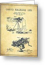 Capps Machine Gun Patent Drawing From 1899 - Vintage Greeting Card