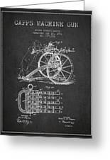 Capps Machine Gun Patent Drawing From 1902 - Dark Greeting Card