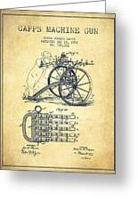 Capps Machine Gun Patent Drawing From 1902 - Vintage Greeting Card