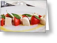 Caprese Mozzarella And Tomatoes Greeting Card