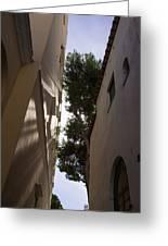 Capri - The Mediterranean Sun Painting Playful Shadows On Facades Greeting Card