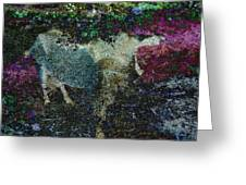 Capricorn Abstract Greeting Card