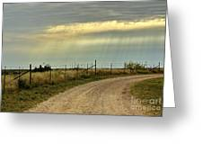 Caprock Canyon-country Road Greeting Card