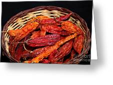 Capsicum Baccatum Chilis Greeting Card