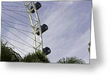 Capsules And Structure Of The Singapore Flyer Along With The Spokes Greeting Card