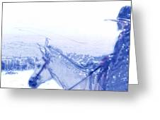 Capt. Call In A Snow Storm Greeting Card