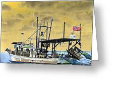 Capt. Jamie - Shrimp Boat - Photopower 01 Greeting Card