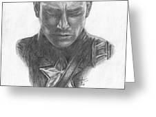 Captain America Greeting Card by Christine Jepsen