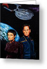 Captain Archer And T Pol Greeting Card