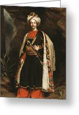 Captain Colin Mackenzie In His Afghan Greeting Card by James Sant