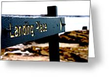 Captain Cooks Landing Place Greeting Card