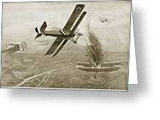Captain Hawkers Aerial Battle Greeting Card