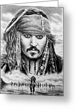 Captain Jack Sparrow 2 Greeting Card
