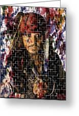 Captain Jack Sparrow Digital Painting Greeting Card